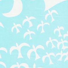 SALE - FQ - Alexander Henry - Livingston Seagull - light blue. $8.00, via Etsy.