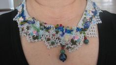 Turkish vintage oya collar necklacecrochet oya lace by CiciByMuy, $55.00