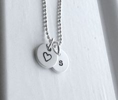 Tiny letter s Necklace Sterling Silver Initial by GirlBurkeStudios, $27.50