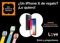 ⚠️ SORTEO ⚠️ 1 #iPhoneX 📱Contrata la Fibra de Orange del 29/06/18 al 31/07/18 en nuestras tiendas de: Almazora, Burriana, Puerta del Sol, Farola, CC Salera y participa del sorteo. Iphone, Digital, Pageants, Fiber, Sun, Street Lamp, Prize Draw, Tents