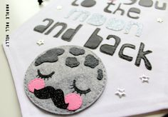 Love you to the moon and back banner Pennant by NoodledollNelly