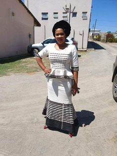 African Print Dresses, African Print Fashion, African Wear, African Fashion Dresses, South African Traditional Dresses, Traditional Outfits, Xhosa Attire, Classy Dress, Traditional Wedding