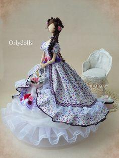 Textiles muñeca hecha a mano muñeca tela muñeca Tilda muñeca suave muñeca de colección de muñeca de trapo trapo muñeca Interior muñeca señora muñeca sueño OOAK