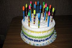 Towel birthday cake for student birthdays throughout the year...then pick a pencil : )
