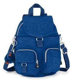 Kipling Firefly N Medium Backpack Cobalt Blue from Bagsdirect.com #bag #kipling #covetme
