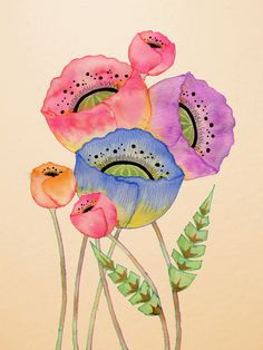 Wildlife Illustration by Colleen Parker : Photo Watercolor And Ink, Watercolor Flowers, Watercolor Paintings, Watercolours, Art Floral, Art Et Illustration, Illustrations, Fabric Painting, Painting & Drawing