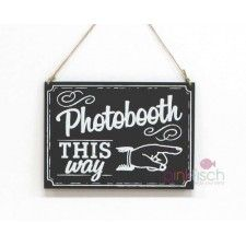 Photo Prop, Photobooth Wegweiser,  Kreidetafel  Photo Booth Props