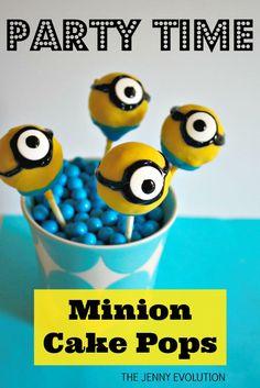Birthday Party Minion Cake Pops Recipe | The Jenny Evolution