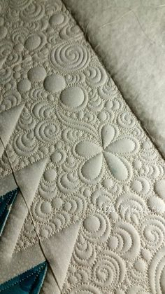 background quilting circles, swirls and flowers by  Judi Madsen