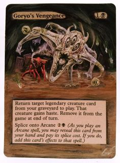 Goryo's Vengeance This Is Only One Of My Altered Cards From This Weeks Batch! To See Them All Go To  www.stores.ebay.com/MTGAlteredMagicCards #MTG #MtgAltered #MtgAlteredArt #MtgHandPainted #MtgExtendedArt #Magic #MagicTheGathering #MtgAlter #Scg #Tcg #WOTC