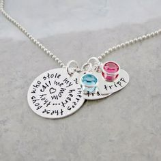 there's these boy who stole my heart. hand stamped mommy necklace