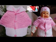 COMO HACER CAPITA PARA BEBES TEJIDA A CROCHET PASO A PASO - YouTube Loom Knitting, Baby Knitting, Crochet Hooks, Crochet Baby, Baby Poncho, Baby Sweaters, Learn To Crochet, Crochet Clothes, Kids And Parenting