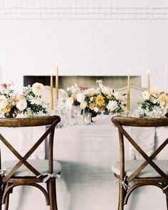 simple romance wedding table decor