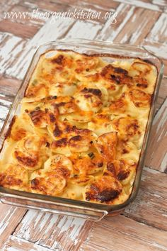 Three Cheese Au Gratin Potatoes | The Organic Kitchen Blog and Tutorials