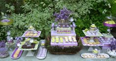 Hostess with the Mostess® - Vintage China Bridal Shower Dessert Table This a beautiful set up!