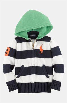 Ralph Lauren Knit Hoodie Sweater (Toddler) | Nordstrom
