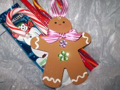 I painted gingerbread men from craft store for the kids I teach for Christmas. Very easy to do