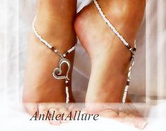 Bohemian Chained Barefoot Sandals Foot Jewelry Boho by BareSandals