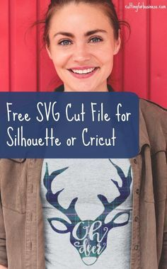 Free 'Oh Deer' SVG Cut File for Silhouette Cameo or Cricut Explore - by cuttingforbusiness.com.