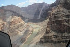 The view of the Colorado River from a Helicopter. Wanna go? Grand Canyon Helicopter, Helicopter Tour, Colorado River, Tours, Sky, American, Amazing, Travel, Heaven