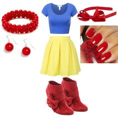 Modern day Snow White by angelica-infinity on Polyvore featuring polyvore fashion style OPI modern