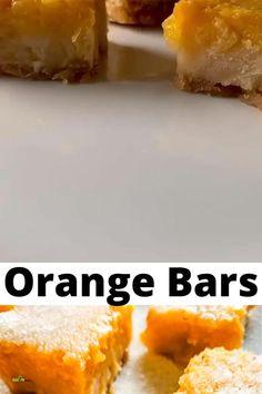 Orange Bar Recipes, Apple Recipes, Baking Recipes, Winter Desserts, Easy Desserts, Dessert Recipes, Orange Yogurt, Orange Dessert, Sugar Sprinkles