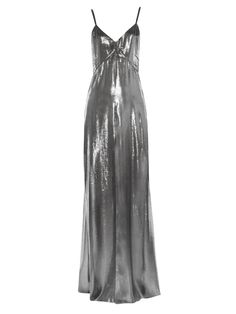 Drape-back lamé gown | Saint Laurent | MATCHESFASHION.COM