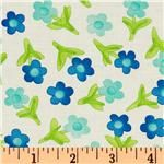 Moda Twirl Mini Twirls Flower Turquoise
