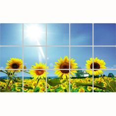 Ularmo 2015 New Nice Removable DIY Kitchen Decor House Decals Aluminum Foil Wall Sticker (sunflower) * See this great image  : home diy improvement