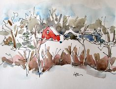 Sketchbook Wandering: Winter Scene