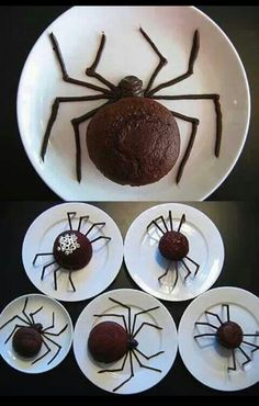 No recipe for the Spider cupcakes provided . . . just examples of this great idea for a Halloween treat.