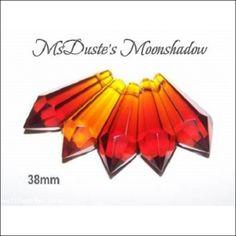 * Lot of 5 Amber 38 mm U-Drop Sun Catcher Chandeliers Lamps Prisms   $4.99