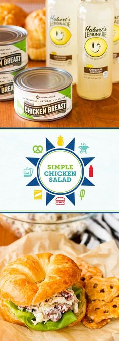 When it comes to recipes for outdoor entertaining this summer, you can never have too many salad recipes to try! Before your next potluck, grab everything you'll need—like ingredients for these Easy Chicken Salad Sandwiches With Grapes & Roasted Pecans and Hubert's® Lemonade—from Sam's Club to get started. Now all that's left is to complete your menu and invite friends and family to enjoy the beautiful weather!