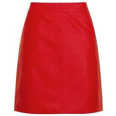 Women's Topshop Faux Leather Pencil Skirt (1.050 ARS) ❤ liked on Polyvore featuring skirts, red skirt, mini pencil skirt, shiny skirt, petite pencil skirt and pencil skirt