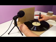 How to Make a Vinyl Record Notebook - YouTube
