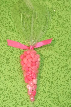 Candy Cones with Hot Pink Ribbons Party Favors, Valentine's Day Favors. Buy 20 or 1000s at TheInvitationShop.com