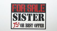 For Sale Sister Check us out on Facebook.... Crop Paper Scissors and more.