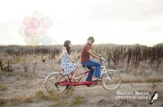 tandum bike & balloons. #LOVE