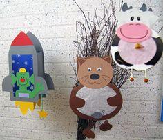 lampion - ruimteschip, beer - koe