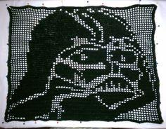 Darth Vader filet crochet by CraftySasha | Star Wars Craft