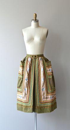Versailles skirt vintage 1950s skirt embellished by DearGolden