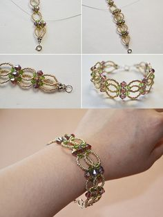Crystal beaded bracelet, check LC.Pandahall.com to get the tutorial soon.   #pandahall