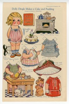 75.2981: Dolly Dingle Makes a Cake and Pudding | paper doll | Paper Dolls | Dolls | National Museum of Play Online Collections | The Strong