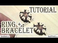 BeadsFriends: bead tutorial - How to make a ring - How to make a bracelet - YouTube