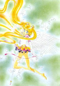 エターナルセーラームーン / 月野うさぎ Eternal Sailor Moon / Usagi Tsukino : 美少女戦士セーラームーン原画集 Bishoujo Senshi Sailor Moon Original Picture Collection vol.5 - by Naoko Takeuchi - Kodansha Comics Vol. 16 cover