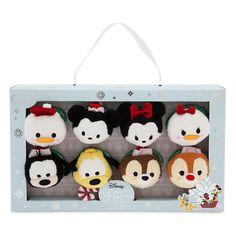 Mickey and Friends Christmas Tsum Tsum Box Set - Donald, Mickey, Minnie, Daisy, Goofy, Pluto, Chip, and Dale