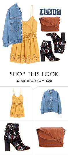 """Sweetie Look"" by vialmeidacuellar ❤ liked on Polyvore featuring H&M, WithChic, Isabel Marant and denimjackets"