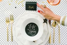 Kate Spade inspired New Year's Eve dinner party