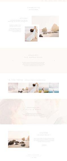 Modern, minimal Showit 5 website design (includes Wordpress blog) by Hearten Creative. // Website design inspiration, Showit5