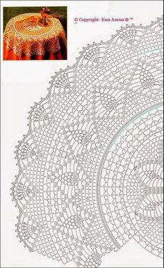 Mantel Redondo A Crochet Crochet Doily Patterns Crochet Doilies Circular Table Crochet Tablecloth Table Covers Chrochet Table Runners Textile Art Free Crochet Doily Patterns, Crochet Doily Diagram, Crochet Mandala, Crochet Art, Thread Crochet, Filet Crochet, Crochet Doilies, Diy Crochet Tablecloth, Diy Crafts Crochet